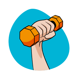 icône coaching sportif - tonicité - serenizen