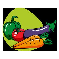 icône cuisine diététique - nutrition et équilibre - serenizen