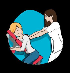 Icône Amma assis - Massages - Serenizen