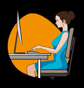 icône ergonomie au travail - serenizen