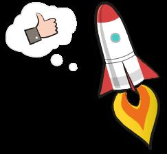 icône fusée partenaire - serenizen
